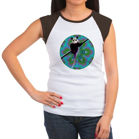 Possum Kaleidoscope Women's Cap Sleeve T-Shirt