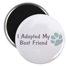 "I Adopted My Best Friend 2.25"" Magnet (100 pack)"