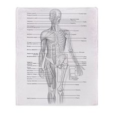 Human Anatomy Chart Throw Blanket