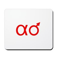 Alpha-Male (red) Mousepad