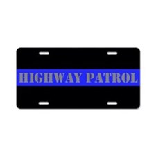Highway Patrol Aluminum License Plate