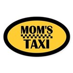 Mom's Taxi Oval Sticker