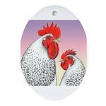 Delaware Fowl Oval Ornament
