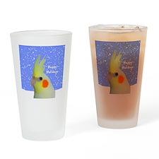 ornament_lutinocockatielpainting Drinking Glass