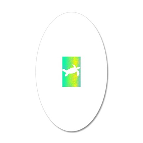 colorful_turtle_lightswitch 20x12 Oval Wall Decal
