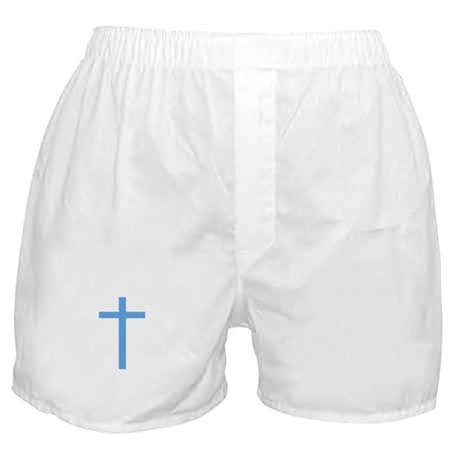 Blue Cross Boxer Shorts
