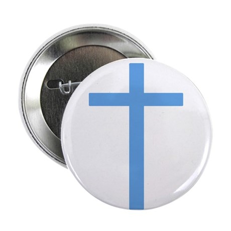 "Blue Cross 2.25"" Button (100 pack)"