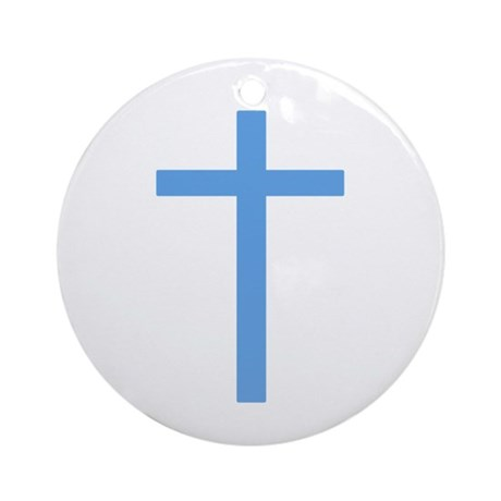 Blue Cross Ornament (Round)