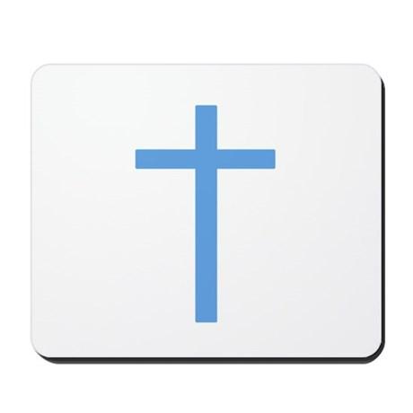 Blue Cross Mousepad