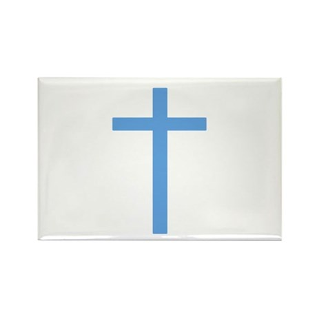 Blue Cross Rectangle Magnet (100 pack)