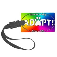adoptpawprint_ovalrainbow Luggage Tag