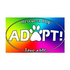 adoptpawprint_ovalrainbow Wall Decal
