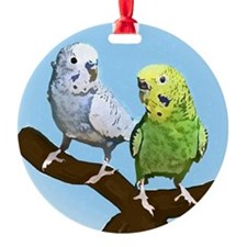 budgies_tile Ornament