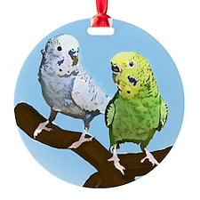 budgies_tile Ornament