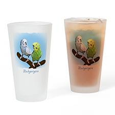 budgies_shirt Drinking Glass