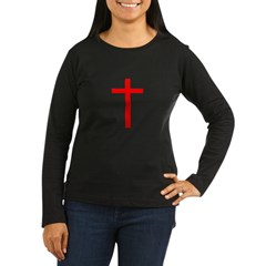 Red Cross Women's Long Sleeve Dark T-Shirt