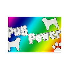 pugpower_smaller Rectangle Magnet