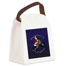 santadirtbikeornament Canvas Lunch Bag