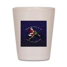santadirtbikeornament Shot Glass