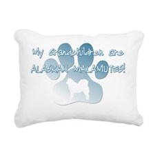 grandchildren_alaskanmal Rectangular Canvas Pillow