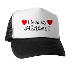 lovemultipledogs_akita Trucker Hat