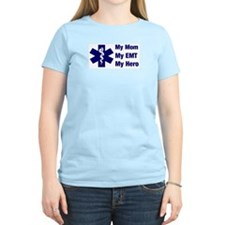 My Mom My EMT Women's Pink T-Shirt