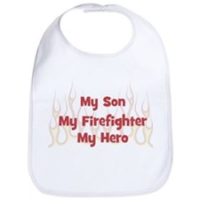 My Son My Firefighter Bib