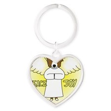 peacejoy_bordercollieredornament Heart Keychain