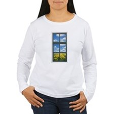 Holland Spring Tulips Faux Window View Long Sleeve