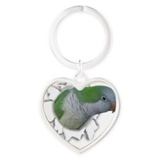 ripping_pickle_ornament Heart Keychain