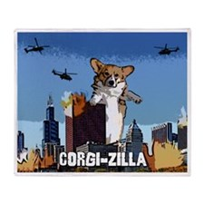 corgizilla_mousepad Throw Blanket