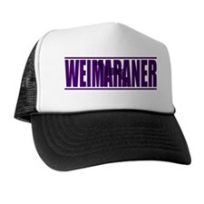 hidden_weimaraner_purp Trucker Hat