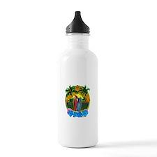 Island Sunset Parrot Water Bottle