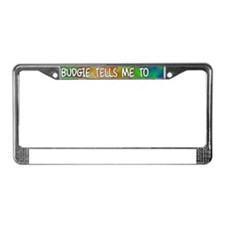dowhat_budgie License Plate Frame