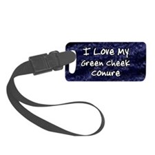 funklove_oval_greencheekconure Luggage Tag