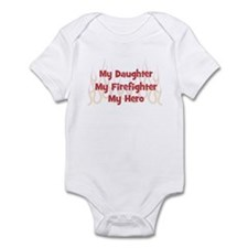 My Daughter My Firefighter Infant Bodysuit