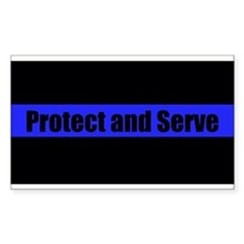 Protect and Serve Police Decal
