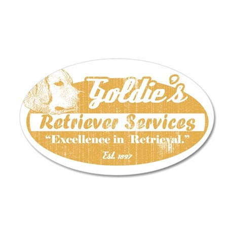 goldiesretrivalservice_oval 35x21 Oval Wall Decal