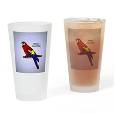 scarlet_macaw_ornament Drinking Glass