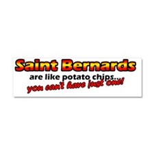 potatochips_stbernard Car Magnet 10 x 3