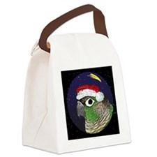 christmasnight_greencheekconure Canvas Lunch Bag