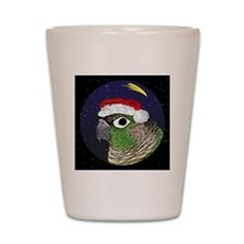 christmasnight_greencheekconure Shot Glass