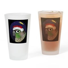 christmasnight_greencheekconure Drinking Glass