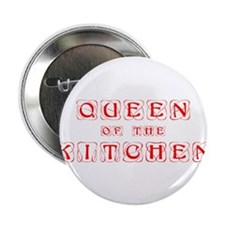 "queen-of-kitchen-kon-red 2.25"" Button (100 pack)"