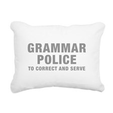 grammar-police-hel-gray Rectangular Canvas Pillow