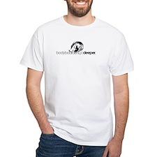 "White ""Bodyboarders Go Deeper"" T-Shirt"
