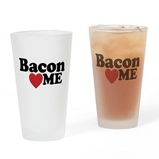 Bacon Loves ME Drinking Glass