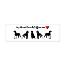 Great Dane left Footprints on my Heart Dog Humorou