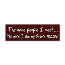 morepeople_severemacaw Car Magnet 10 x 3