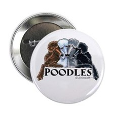 "Poodles 2.25"" Button"